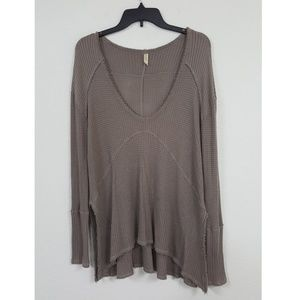 Free People Sz S Sweatshirt Tunic Top